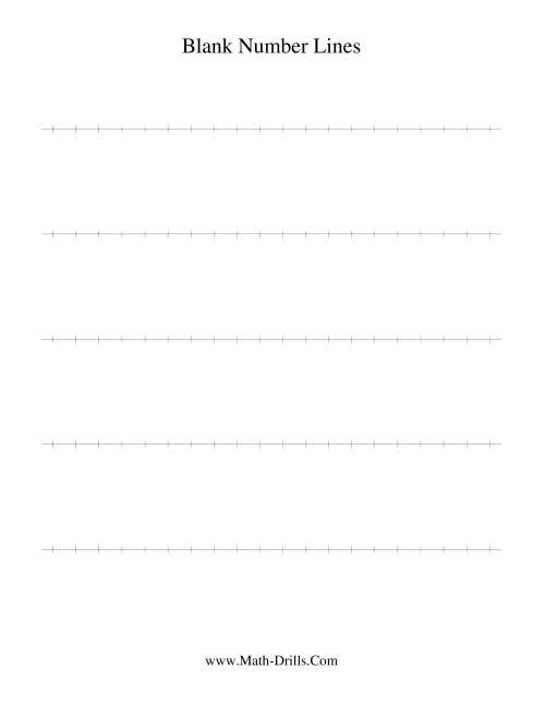 The Blank Number Line Number Sense Worksheet