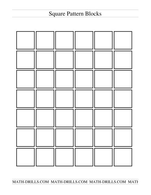 The Black and White Pattern Blocks Math Worksheet