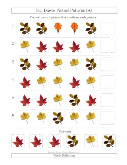 Fall Leaves Picture Patterns with Shape Attribute Only (A)