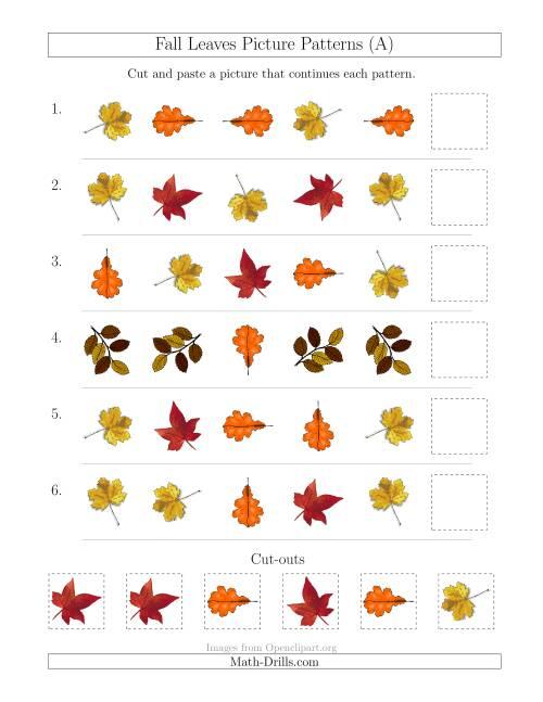 fall leaf pattern worksheets theleaf co