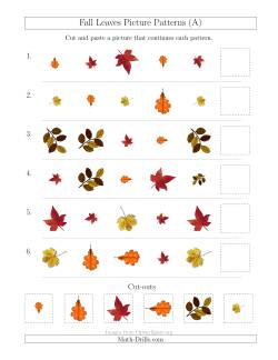 Fall Leaves Picture Patterns with Shape, Size and Rotation Attributes (A)
