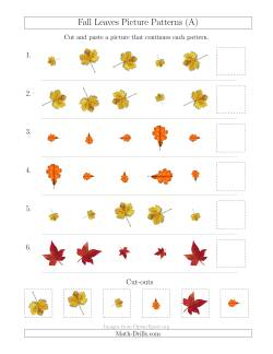Fall Leaves Picture Patterns with Size and Rotation Attributes