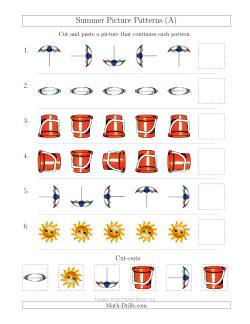 Summer Picture Patterns with Rotation Attribute Only (A)