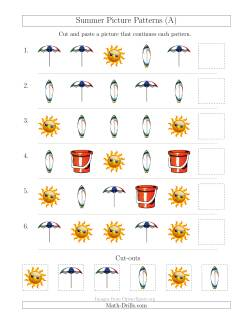 Summer Picture Patterns with Shape Attribute Only (A)
