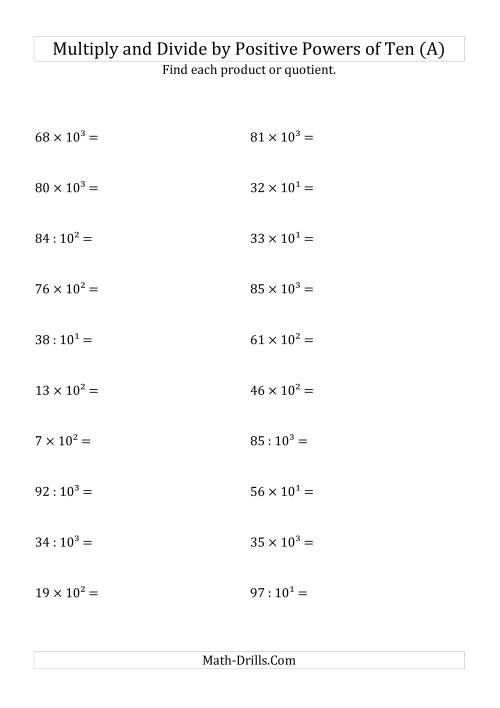 Uncategorized Multiplying And Dividing Exponents Worksheet multiplying and dividing whole numbers by positive powers of ten more information