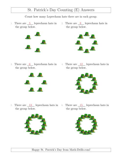 The Counting Leprechaun Hats in Circular Arrangements (E) Math Worksheet Page 2