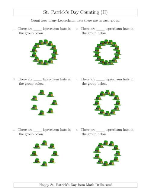 The Counting Leprechaun Hats in Circular Arrangements (H) Math Worksheet