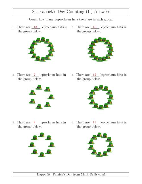 The Counting Leprechaun Hats in Circular Arrangements (H) Math Worksheet Page 2