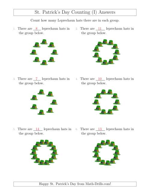 The Counting Leprechaun Hats in Circular Arrangements (I) Math Worksheet Page 2