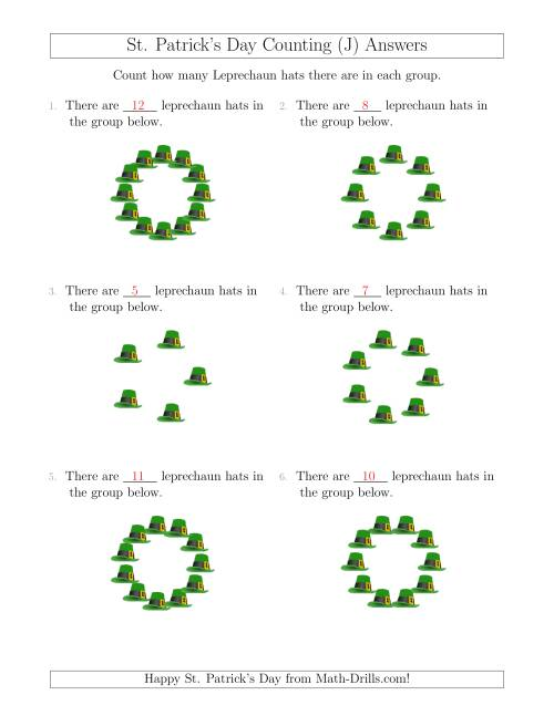 The Counting Leprechaun Hats in Circular Arrangements (J) Math Worksheet Page 2