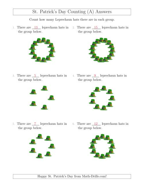 The Counting Leprechaun Hats in Circular Arrangements (All) Math Worksheet Page 2