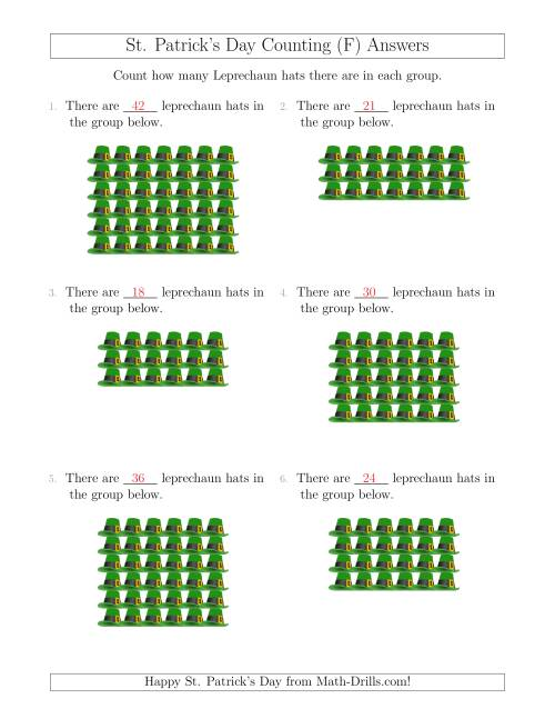 The Counting Leprechaun Hats in Rectangular Arrangements (F) Math Worksheet Page 2