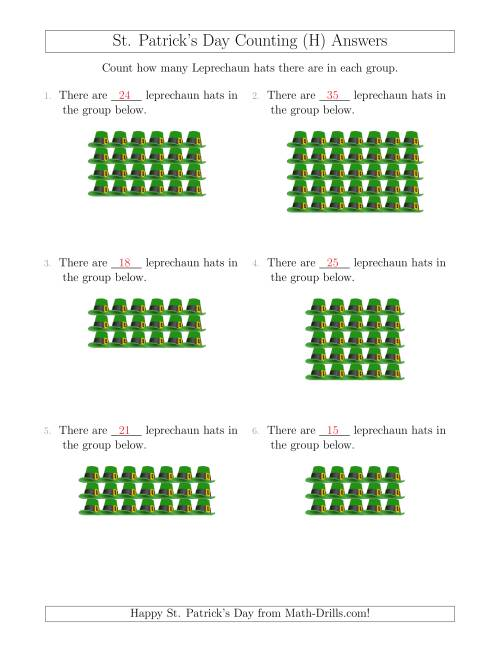The Counting Leprechaun Hats in Rectangular Arrangements (H) Math Worksheet Page 2
