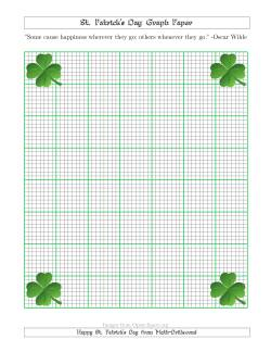 St. Patrick's Day Graph Paper 1/8 Inch with a Clover Theme