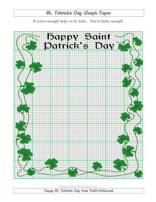 The St. Patrick's Day Graph Paper 10 Lines per Inch with a Fancy Border