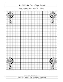 St. Patrick's Day Graph Paper Metric 3 Line with a Celtic Cross Theme