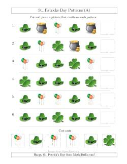 St. Patrick's Day Picture Patterns with Shape Attribute Only (A)