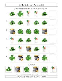 St. Patrick's Day Picture Patterns with Shape Attribute Only (J)