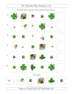 St. Patrick's Day Picture Patterns with Shape, Size and Rotation Attributes