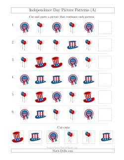 Independence Day Picture Patterns with Shape Attribute Only (A)