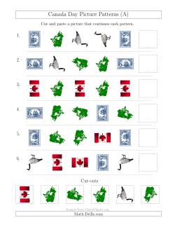 Canada Day Picture Patterns with Shape and Rotation Attributes (A)