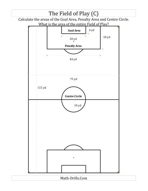 The World Cup Math -- The Field of Play Math Worksheet