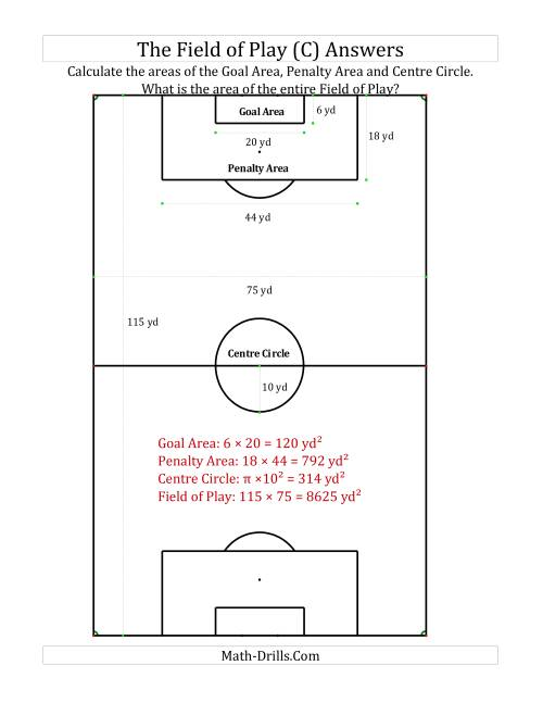 The World Cup Math -- The Field of Play Math Worksheet Page 2