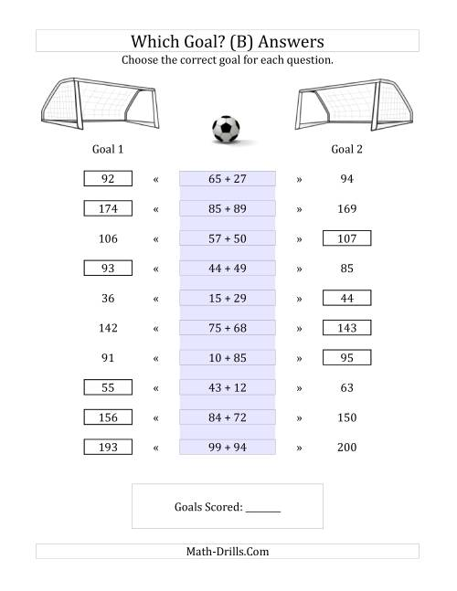 The World Cup Math -- Which Goal? Math Worksheet Page 2