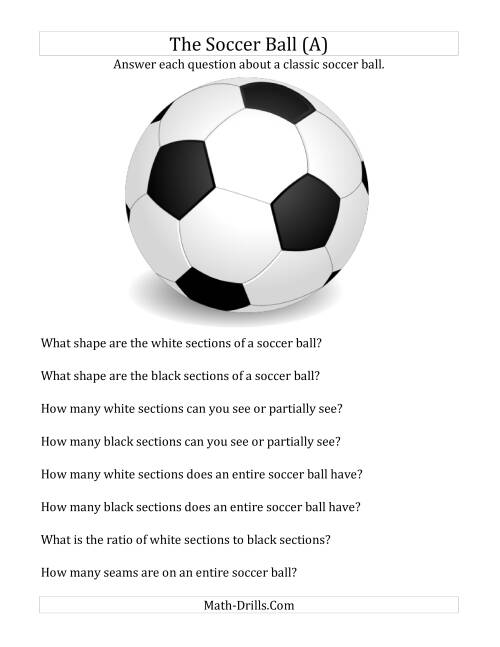 The World Cup Math -- The Soccer Ball Holiday and Event Math Worksheet