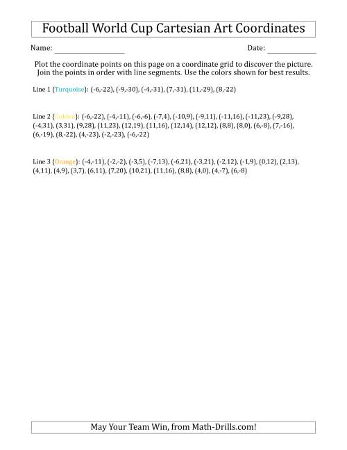 The Football World Cup Cartesian Art Wold Cup Trophy Math Worksheet Page 2