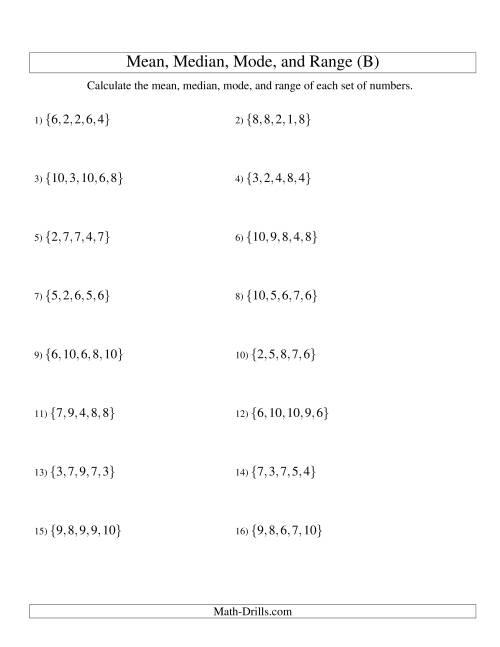 middle school math worksheets mean median mode grade 6 math worksheets lessons on range mean. Black Bedroom Furniture Sets. Home Design Ideas