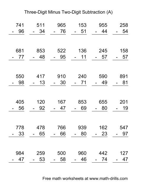 Worksheet 12241584 Two and Three Digit Subtraction with – 2 and 3 Digit Subtraction with Regrouping Worksheets