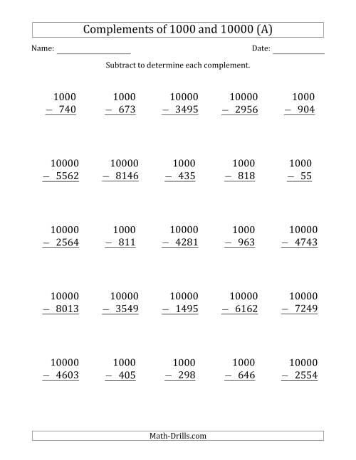 Subtracting Across Zeros Worksheet 4th Grade subtraction worksheets – Subtracting Across Zero Worksheet