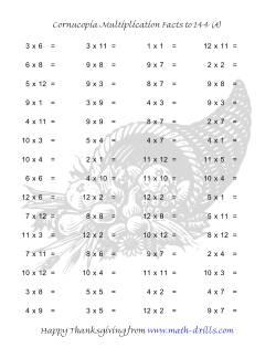 Cornucopia Multiplication Facts to 144