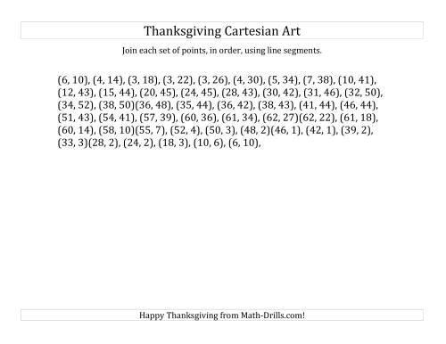 The Cartesian Art Thanksgiving Pumpkin (B) Math Worksheet Page 2
