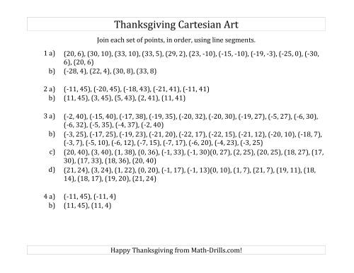 The Cartesian Art Thanksgiving Mayflower (D) Math Worksheet Page 2