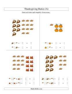 Thanksgiving Picture Ratios Including Part to Whole Ratios