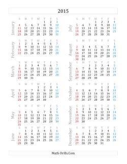 2015 yearly calendar a time worksheet. Black Bedroom Furniture Sets. Home Design Ideas