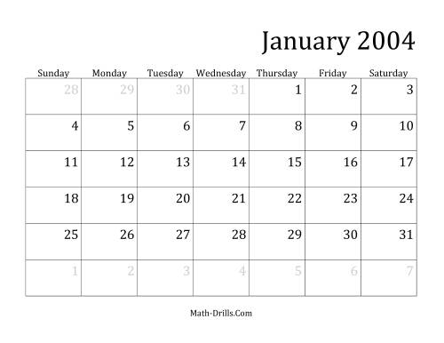 The 2004 Monthly Calendar
