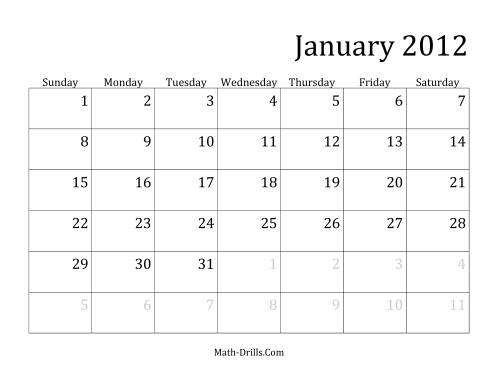 The 2012 Monthly Calendar