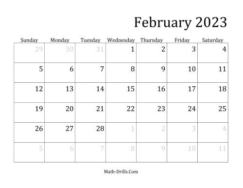 The 2023 Monthly Calendar Math Worksheet Page 2