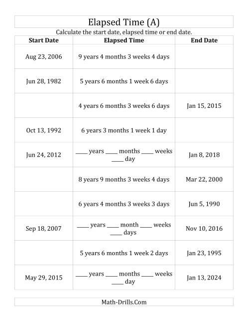 Elapsed Time Word Problems Worksheets 3rd Grade - Checks Worksheet