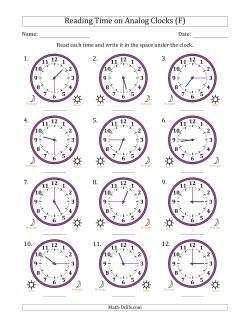 12 hour time worksheet pdf