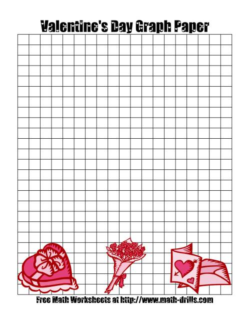 The Graph Paper Valentine's Day Math Worksheet