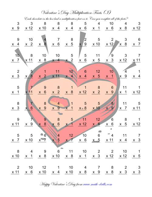 The Multiplication Facts to 144 (I) Math Worksheet