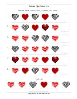 Valentines Day Picture Patterns with Shape Attribute Only