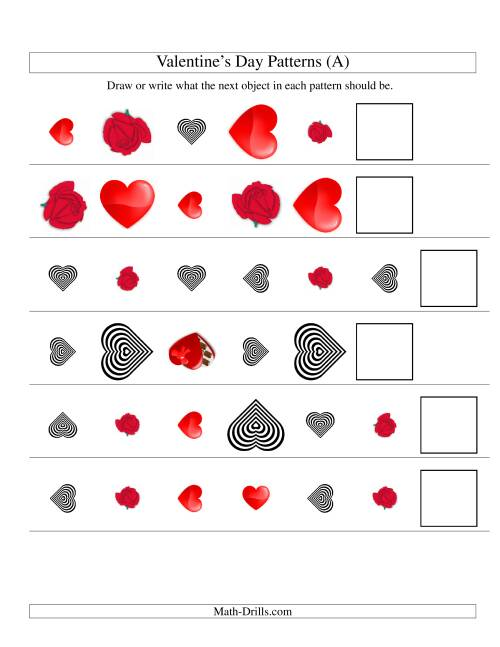 The Three-Attribute Patterns (Shape, Size and Rotation) (Old) Math Worksheet