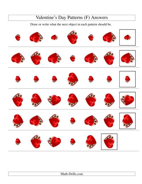 The Two-Attribute Patterns (Size and Rotation) Featuring Chocolates (F) Math Worksheet Page 2