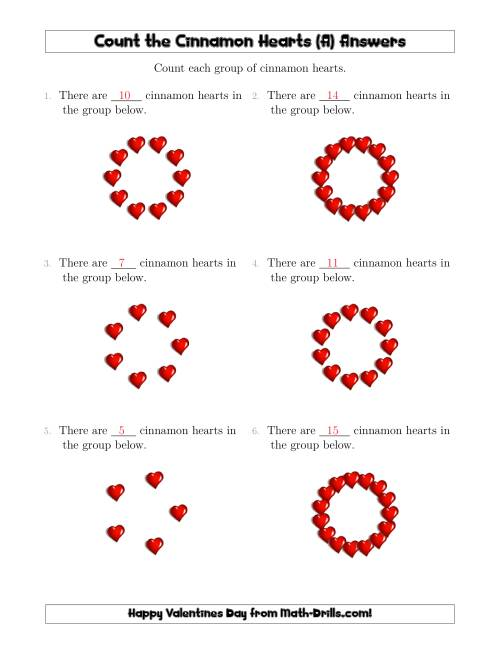 The Counting Cinnamon Hearts in Circular Arrangements (A) Math Worksheet Page 2