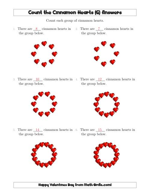 The Counting Cinnamon Hearts in Circular Arrangements (G) Math Worksheet Page 2